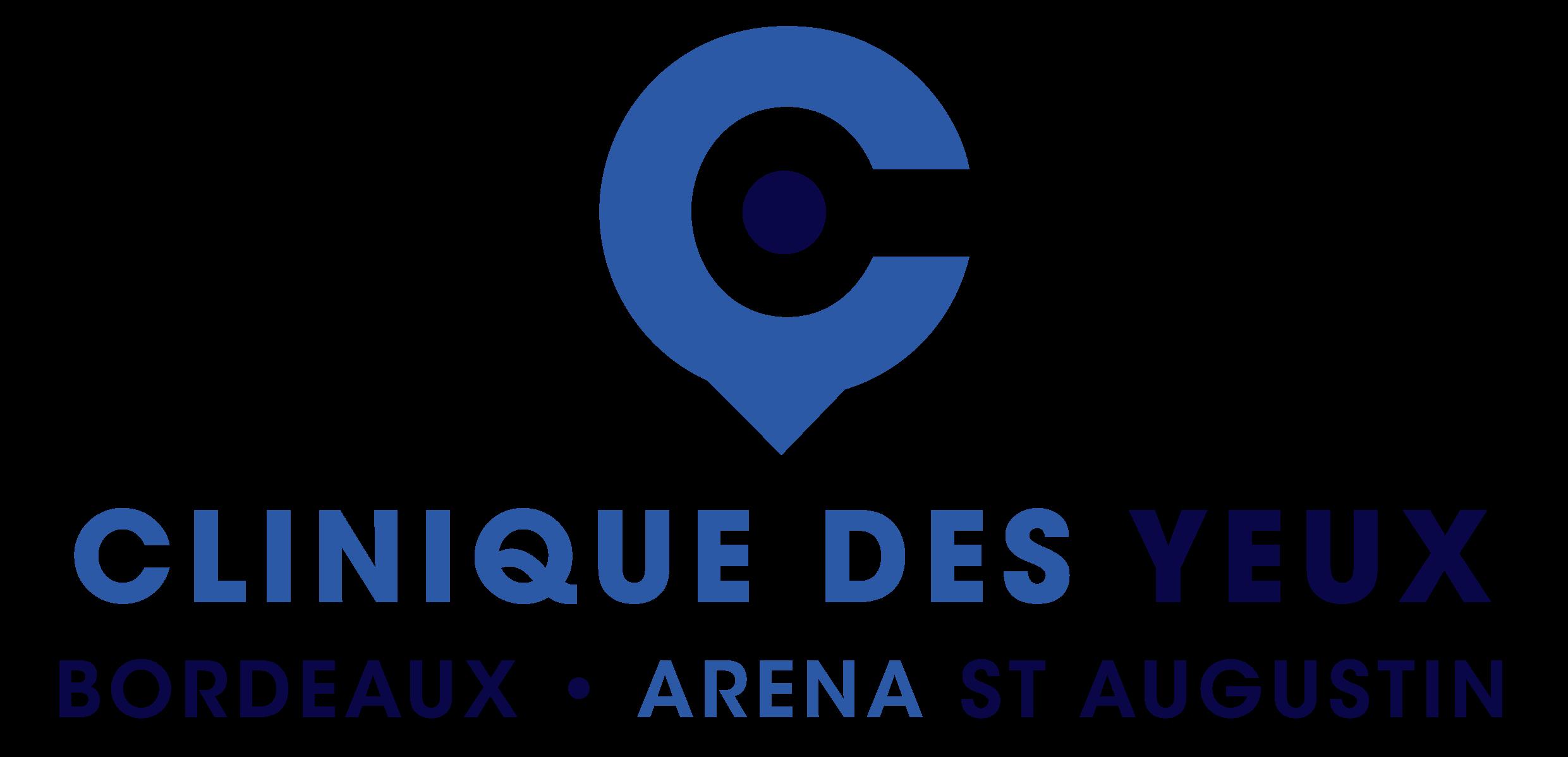 Logo vertical Clinique des Yeux Bordeaux Arena St Augustin | Cliniques et Centres Ophtalmologique